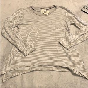 NWT grey & white striped Volcom long sleeved